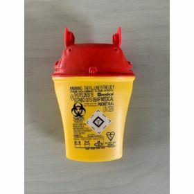 Zaknaaldcontainer POCKET 0,4 L - geel/rood