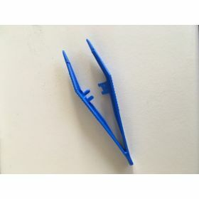 plastic pincet PP 82mm blauw, niet steriel