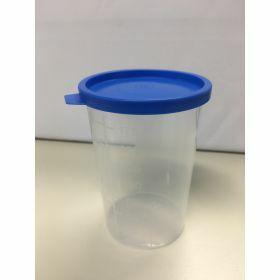 Staalpot 200ml PP, blauwe snapcap gemonteerd