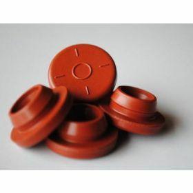 Butyl rubber septum/dop- doorprikbaar- rood D28mm
