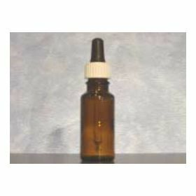 Druppelteller glas bruin rond 15ml - compleet - Amber
