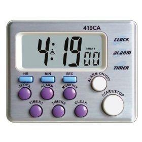 24-uur countdown-teller / timer - 2 kanalen