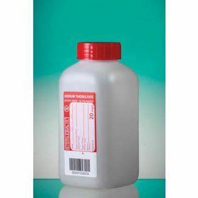 Fles 500ml HDPE met  Na-thiosulfaat 20mg/l, steriel, leakproof schroefstop met inlage