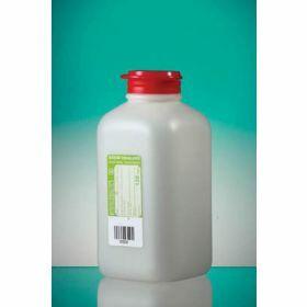 Fles 500ml HDPE met Na-thiosulfaat 120mg/l, steriel, scharnierstop met veiligheidsring
