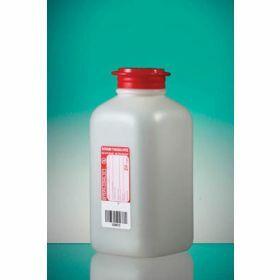 Fles 500ml HDPE met Na-thiosulfaat 20mg/l , steriel/1, scharnierstop met veiligheidsring