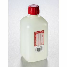 Fles 500ml HDPE met Na-thiosulfaat 20mg/l, steriel/1, shaped seal schroefstop