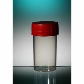 Staalpot TP35 60ml PP rode schroefstop, aseptisch
