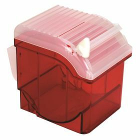 Parafilm dispenser in ABS met cutter, rood