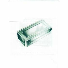 Inox instrumentenbox voor sterilisatie 130x60xH40mm