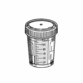 Staalpot 120 ml PP met witte schroefstop, gemonteerd
