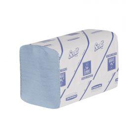 Handdoeken Scott Xtra interfold,1-laags, blauw, 31.5 x 20cm