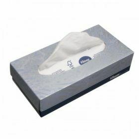 Facial tissue Kleenex 2-laags, wit, 21.5 x 18.6 cm
