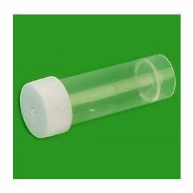 Staalpot 25ml - PP - conisch - zelfstaand - met witte schroefdop