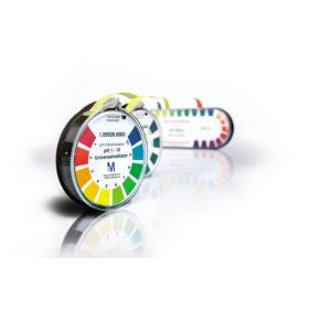 Merck Alkalit pH indicator papier pH 0.5 - 13.0 met kleurenschema