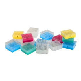 Cryobox PP alfan.ext.opdruk 9x9130x130 H52mm geel