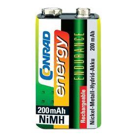 Herlaadbare NiMH batterij 9V