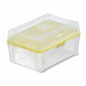 NEW Tip-Box leeg vr.200µl tips geel+rekje z.tips