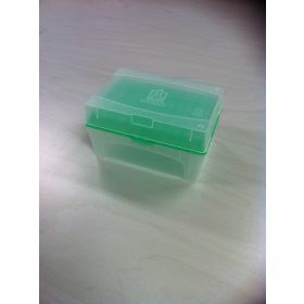NEW Tip-Box leeg vr.300µl tips groen+rekje z.tips