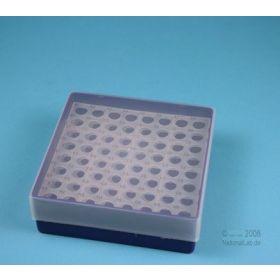 Cryobox PP Eppi45 130x130 H45mm 8x8 rond