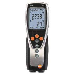 Testo 735-2 thermometer, 3 kanalen incl. accessoires