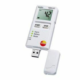 Testo 184-H1 USB relatieve vocht en temperatuur datalogger met display, onbeperkte gebruikstijd, 70°C