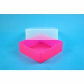 Eppi67 box PP H64mm, geen raster, neon-roze