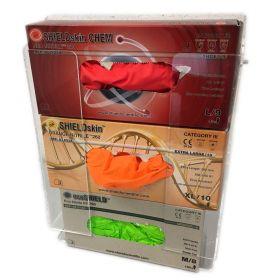 Universele houder voor 3 handschoendozen  - plexiglas