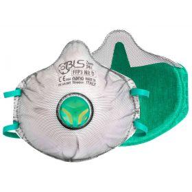 BLS 030C cupmasker FFP3 Nano - ventiel - gedeeltelijke dichting - actieve kool