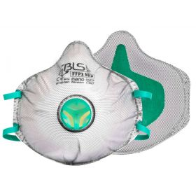 BLS Zer0 31C cupmasker FFP3 Nano - ventiel - volledige dichting - actieve kool