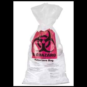 Autoclaafzak PP 700x1100 mm (110l) met Biohazard symool