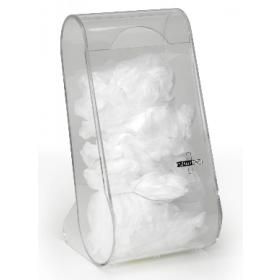 Dispenser voor beschermingsmateriaal in plexiglas