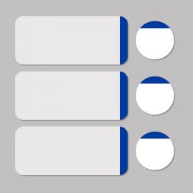 Etiket wit/blauw rond D11mm + rechthoekig 33x13mm - 500st