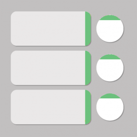 Etiket wit/groen rond D11mm + rechthoekig 33x13mm - 500st