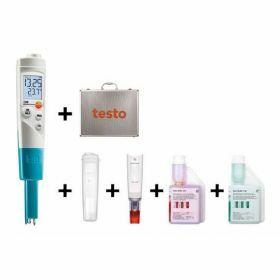 Testo 206-pH1 Starterset  pH/temperatuurmeter met insteeksonde, 60°C/14pH