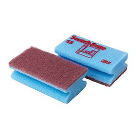 Spons Scotch-Brite cleaning 55 blauw/rood