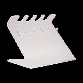 Universeel pipetrek voor 4 pipetten - plexiglas - wit