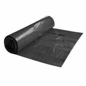 Vuilniszak LDPE op rol 120L, zwart, 80µm