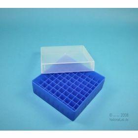 Eppi50 cryobox PP,130x130mm H52mm 9x9 Neonblauw niet alfanumeriek