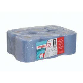 Wypall L10 poetsdoeken, blauw, rol (525d.) 1-laags