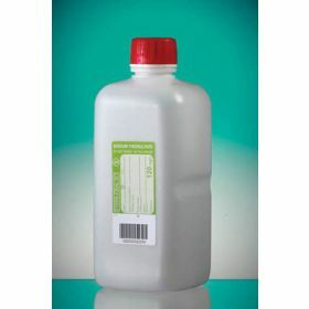 Fles 1000ml HDPE met Na-thiosulfaat 120mg/l, steriel, shaped seal schroefstop