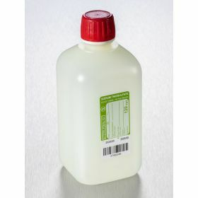 Fles 500ml HDPE met Na-thiosulfaat 120mg/l, steriel/1, shaped seal schroefstop