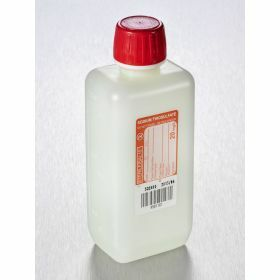 Fles 250ml HDPE rechthoekig met Na-thiosulfaat 20ml/l, steriel, shaped seal schroefstop