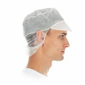 PP Eco pet / klep en haaropvang, wit 'snood cap' Ø31 cm