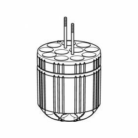 Eppendorf SET: 2 Adapters 11x Ø16x115mm (7.5-12ml) voor S-4x400