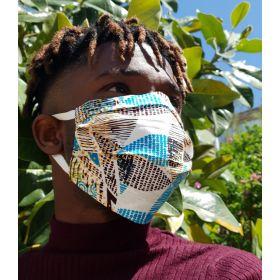 Masker in stof - DEPESKIDOU floral - adult - lint