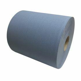 Poetspapier - blauw - cellulose - 2-laags 26cmx190m