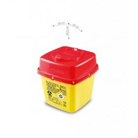 Naaldcontainers AP Medical type CS PLUS, vierkant, geel/rood