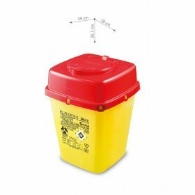 Naaldcontainers AP Medical type DAILY, vierkant, geel/rood