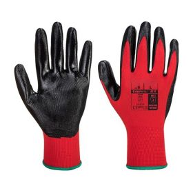 Flexo Grip Nitril handschoenen Rood/Zwart