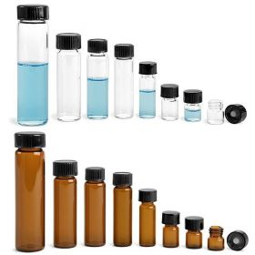 Wheaton vials 20ml - zwart fenol deksel & (PTFE)/14B rubber inlage